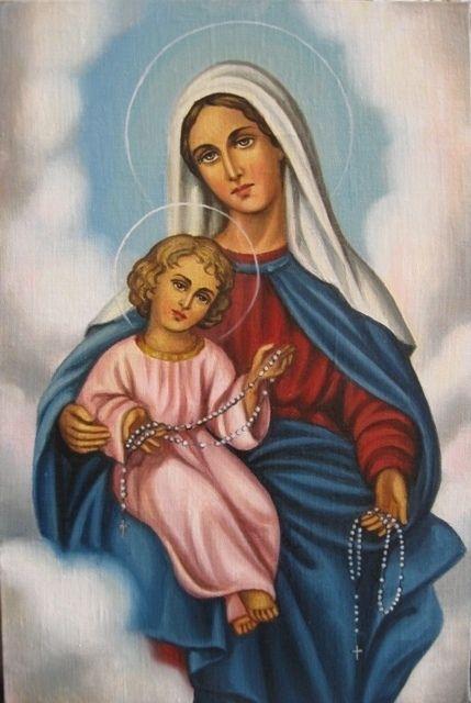 Дева Мария Святого Розария (холст,масло)