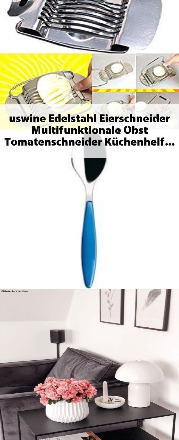 Uswine Edelstahl Eierschneider Multifunktionale Obst Tomatenschneider Kuchenhel Egg Slicer Multifunctional Stainless Steel