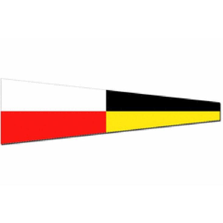 Seinwimpel 9 20x24cm (werkelijk formaat is 20x70cm) De Seinvlag negen Materiaal Pavillon, rondom gezoomd met koord en lus, hoogste kwaliteit. Bestel al uw seinvlaggen en seinwinpels en andere nautische vlaggen voor aan boord voordelig bij Vlaggenclub