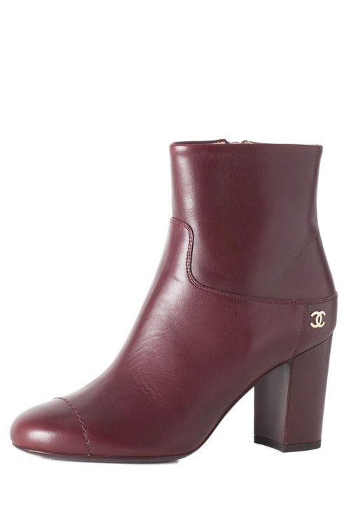 #Chanel #Shoe #sale has begun! These dark #burgundy calfskin short #boots are perfect for this season and are almost half off!!! #designerdiscount
