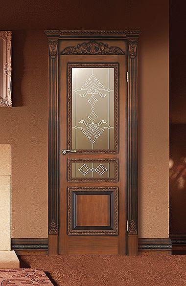 Межкомнатная дверь «Монако». Отделка «античная патина» #дверирулес #двери #межкомнатные #русский_лес