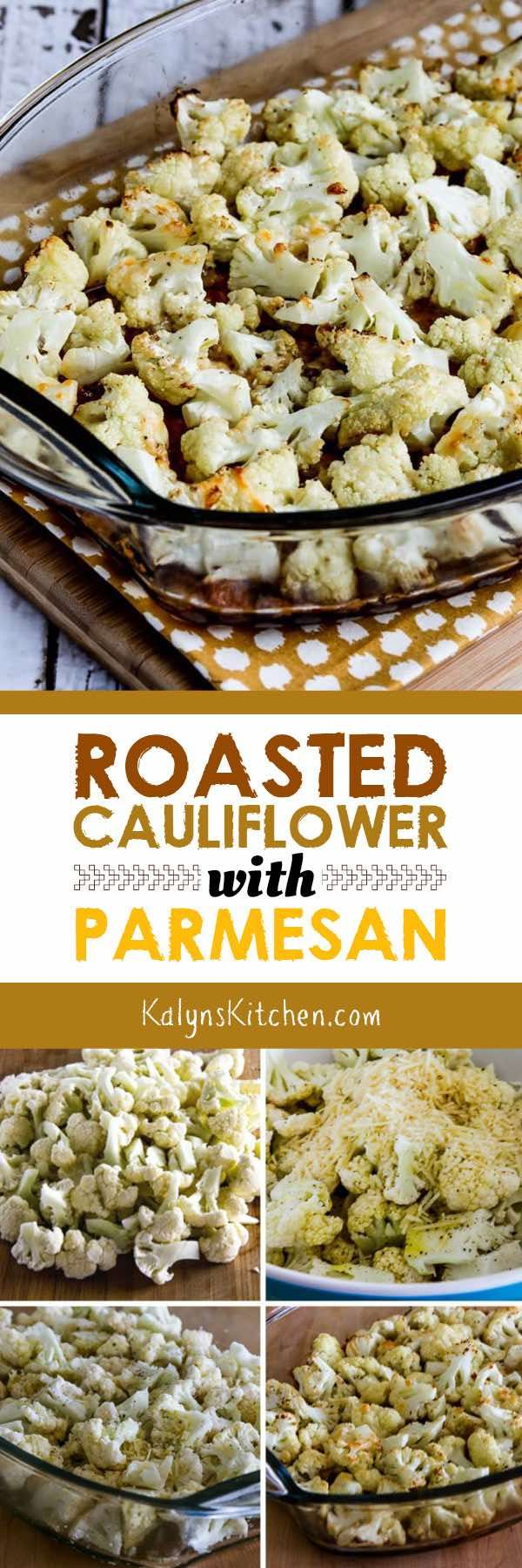 Roasted Cauliflower with Parmesan is a complete WOW with this new-and-improved method; this is a must try! And of course low-carb roasted cauliflower is also gluten-free, Keto, and low-glycemic. [found on KalynsKitchen.com]