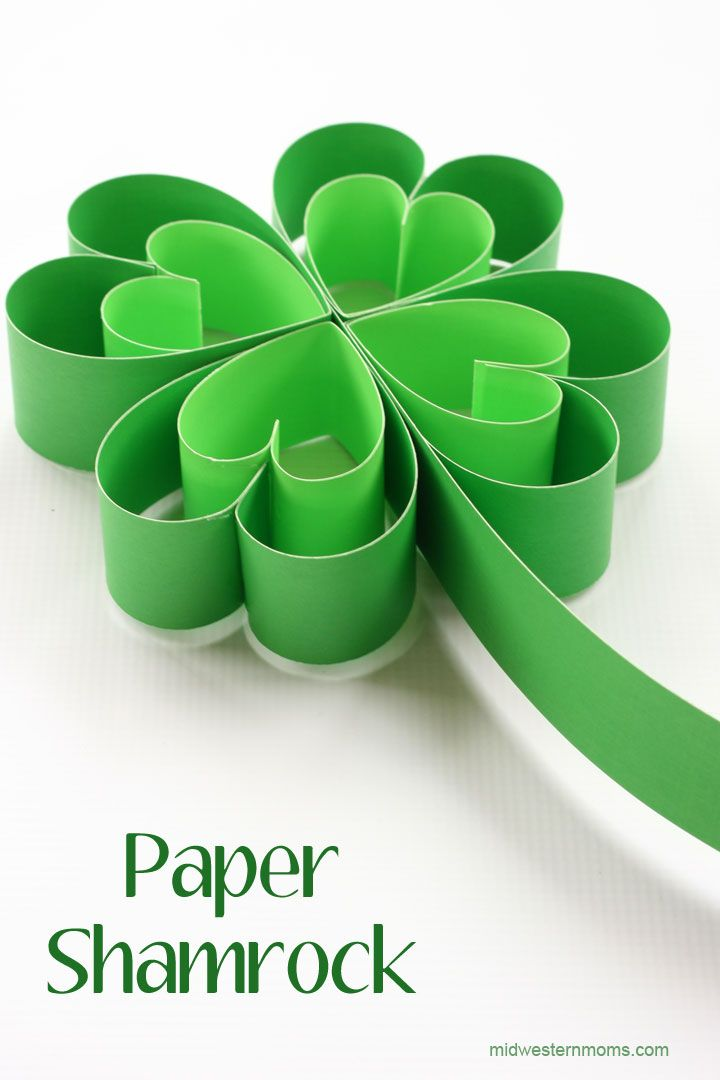 Easy shamrock paper craft