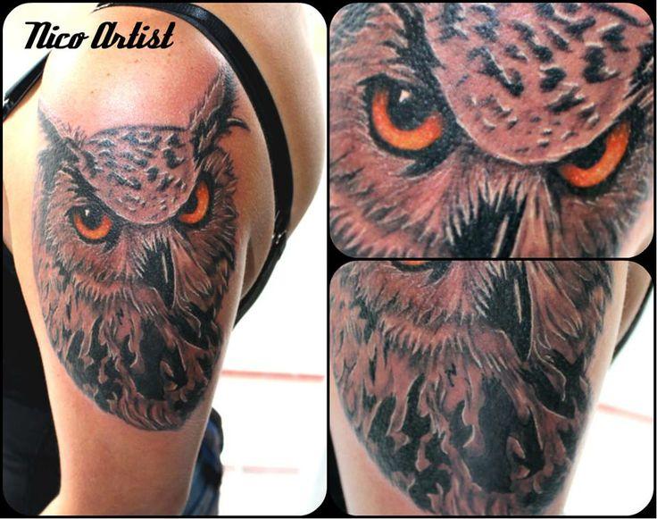 Búho  Nico artist Leben tattoo studio #Owl #Buho #Nicoartist