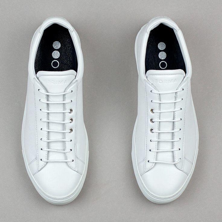 Primaforma 001 Leather Court Sneaker for Men in White