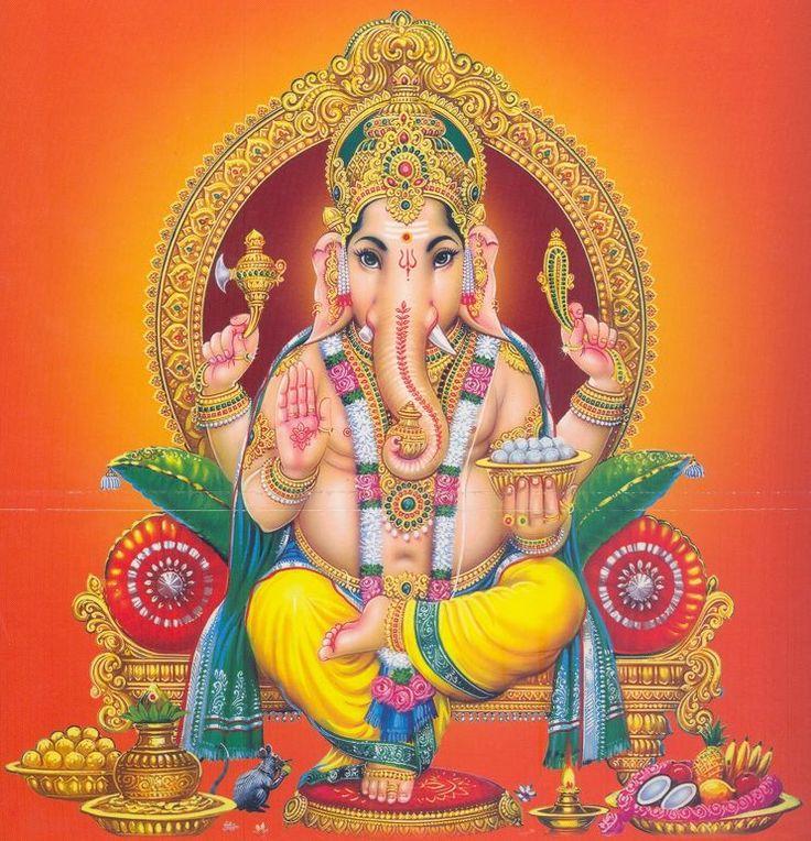 Picture of Hindu God Ganesha or Vinayagar