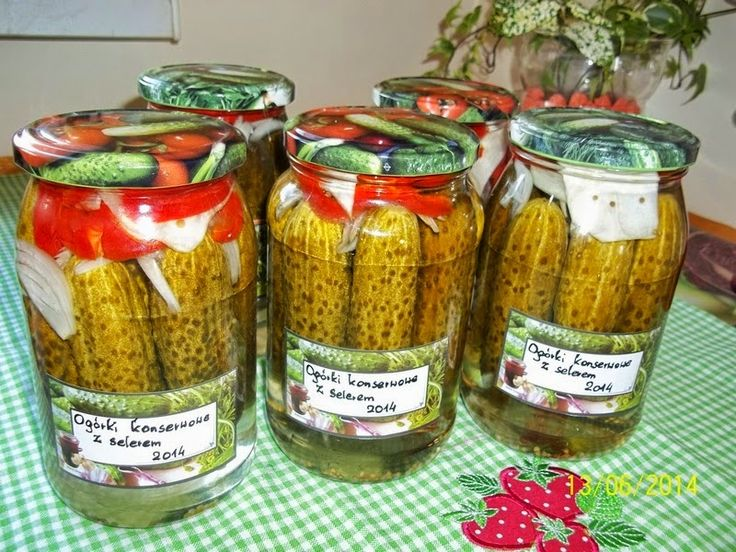 Ogórki konserwowe z selerem