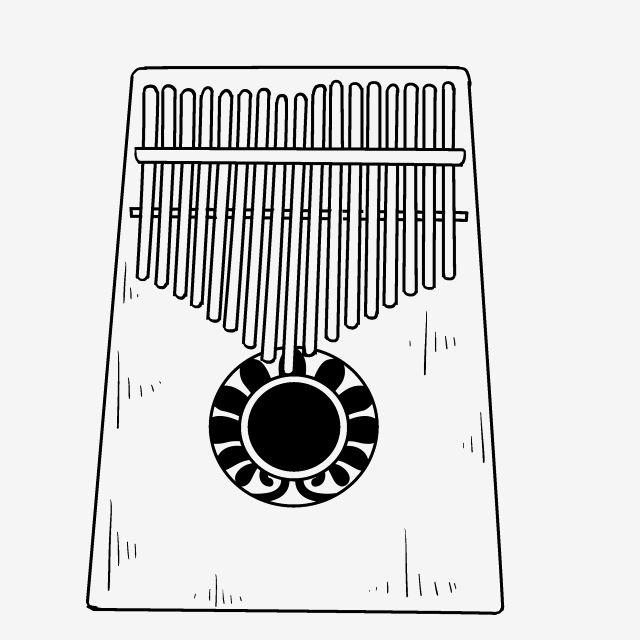 Line Drawing Kalimba Musical Instrument Illustration National Musical Instrument Line Drawing Instrument Line Drawing Kalimba Png Transparent Clipart Image A Cizimler Cizim