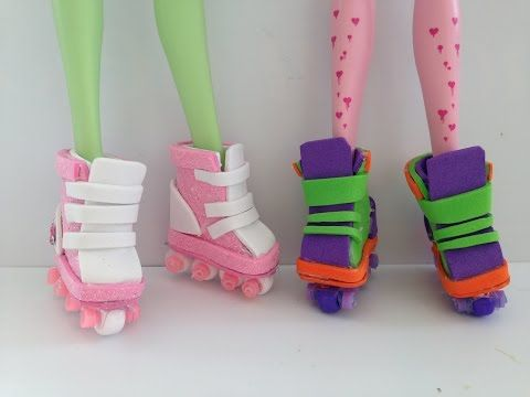 How to make Doll roller blades - YouTube