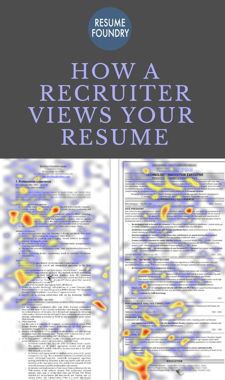 "The study's ""gaze tracking"" technology shows what parts of your resume recruiters spend the most time reviewing. It turns out that recruiters spend 60% more time reviewing professional versus self-written resumes. Improve your odds with a Professional Resume Templates available at Resume Foundry https://www.etsy.com/ca/shop/ResumeFoundry"