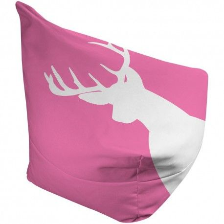 Funky Pink Deer Bean Bag - stylish kids furniture that will take them from toddler to young adult. Great for kids rooms, gaming chairs and dorm room furniture. Ships Internationally.