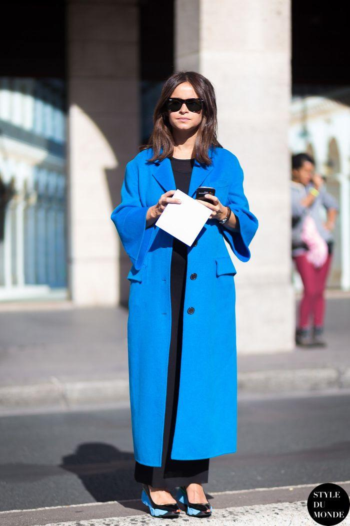 the big blue. Miss Mira in Paris. #MiroslavaDuma