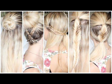 [ Tutoriel Coiffure n°31 ] : 5 coiffures pour tous les jours ! - YouTube