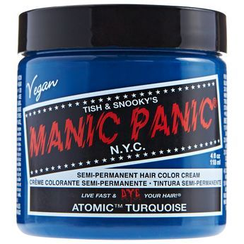 Manic Panic Semi-Permanent Hair Color Cream Atomic Turquoise