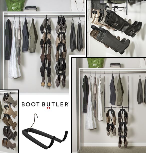 Custom Closet Design, Custom Closets, Closet Designs, Boot Rack, Gift Ideas  For Women, Tall Boots, Shoe Boots, Walk In Closet, Great Gifts