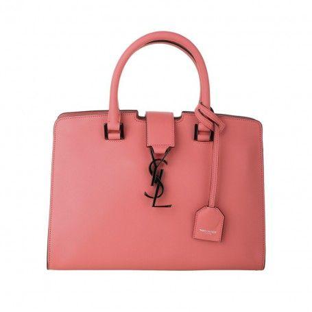 Saint Laurent Tasche – YSL Monogramme Baby Cabas Fibbia Rose Claire – in rosa – Henkeltasche für Damen