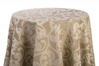 Gold/Taupe Damask Linens - variety of sizes available