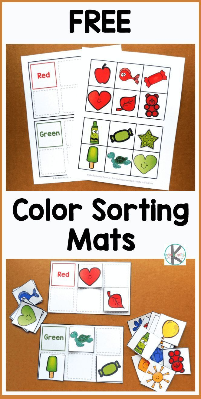 FREE Color Sorting Mats – kids will have fun practicing identifying major colors with these free printable, reusable, sorting activity. Perfect for to…