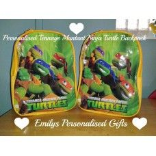 Lovely and Personalised TMNT backpack £9.00 plus p+p (Personalised with fabric paint and covered in a fixing solution)