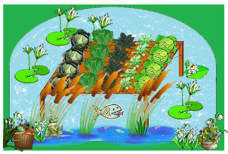 Aztec Floating Garden Perfect Simple Aquaponic Garden 400 x 300