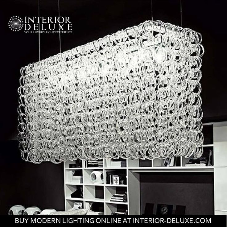 Modern crystal lamp by vistosi for luxury lovers