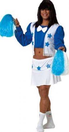Disfraz de Animadora adulto. Cheerlader costume. Funny costume. Disfraces para despedidas de solteros.http://www.leondisfraces.es/catalogo/Catalog/show/disfraz-de-animadora-adulto-1732