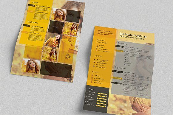 CV/Resume Template - A4 Portrait by Spyros Thalassinos on @creativemarket
