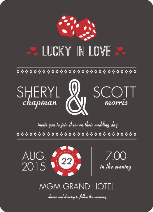 Las Vegas Wedding Invitations Invitation Wording Ideas Templates