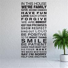 Wallsticker In this house - NiceWall.dk
