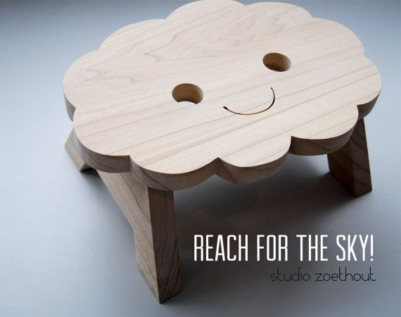 happy cloud step stool kitchenstool Reach for by StudioZoethout
