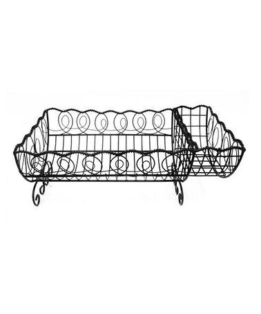 French Country Black Wire Dish Rack by AQ.