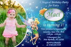 TinkerBell Invitation TinkerBell Birthday Party by FirstTrendy