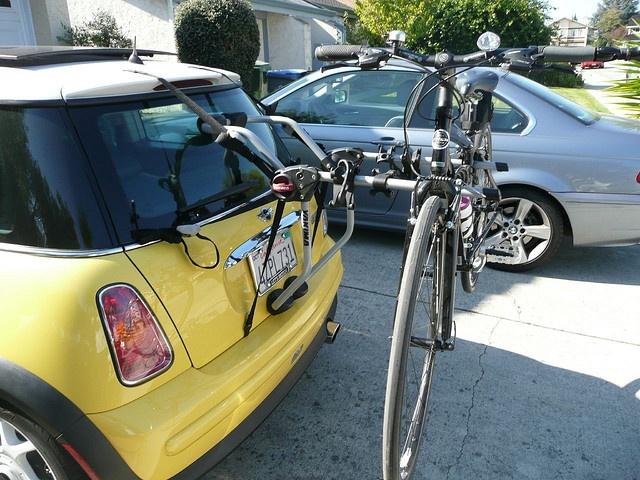 Mini Cooper And Yakima Bike Rack