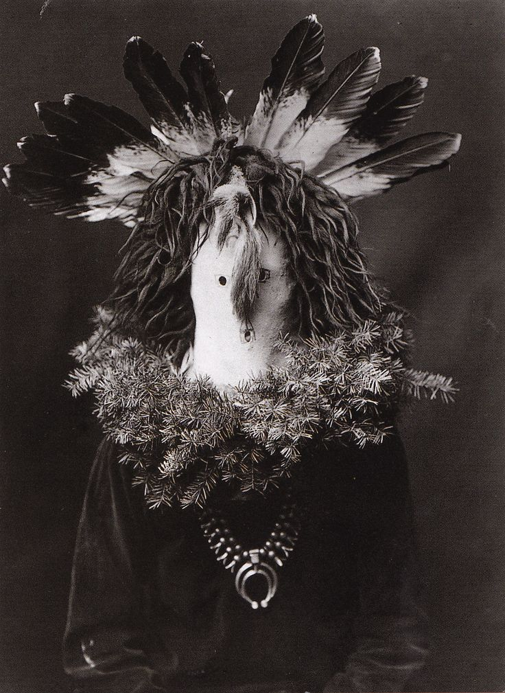 #NativeAmerican #mask, Hachogan, #Navajo photo by #E.S.Curtis, Collections of the Library of Congress, USA