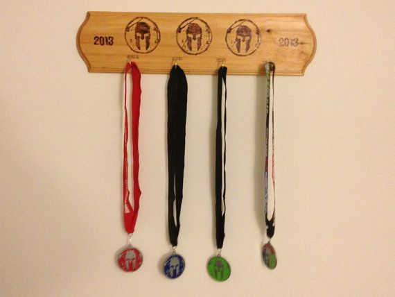 Spartan Trifecta Medal Display By Flickasfindings On 25 00 The Athlete In Me Race Displays And Fitness Workouts