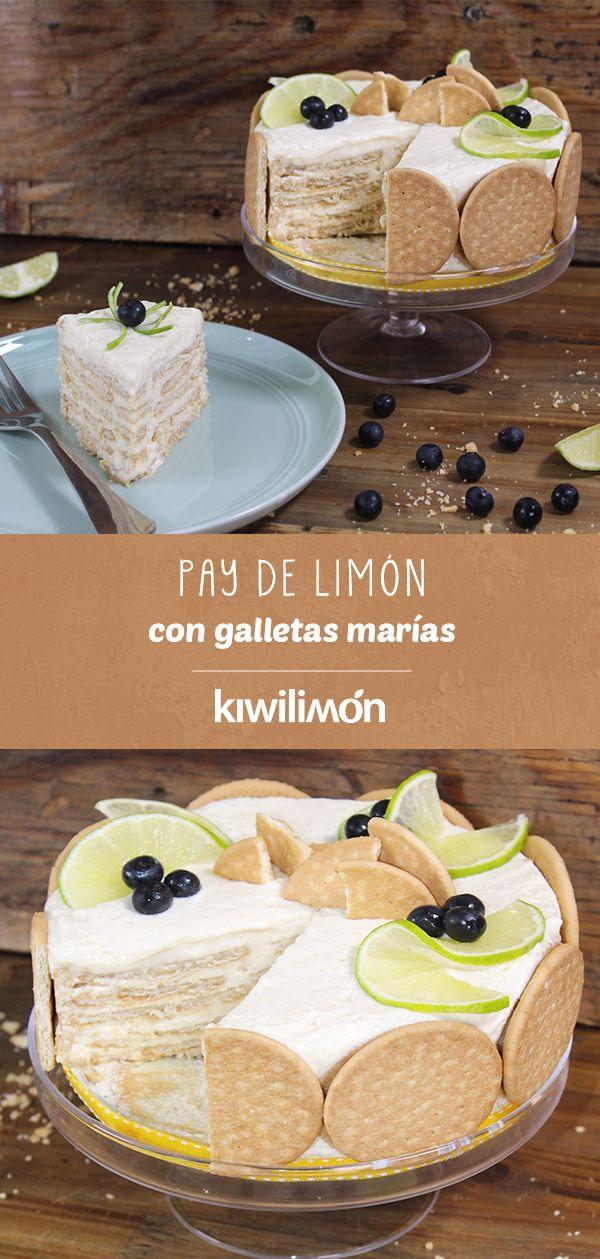 Pay De Limón Con Galletas Marías Receta Pay De Limon Con Galletas Marias Postre De Limon Y Galletas Marias Postres Con Galletas Maria
