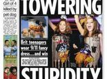 """Amid the unofficial tradition of politically incorrect Halloween costumes, a rubble-ridden World Trade Center outfit has topped the list in England & creating headlines across the globe.   The Sun newspaper even devoted its front page to the outfits with the headline """"Towering Stupidity."""""""