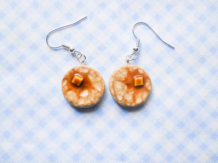 Pancake Earrings by KawaiiKiosk on Etsy