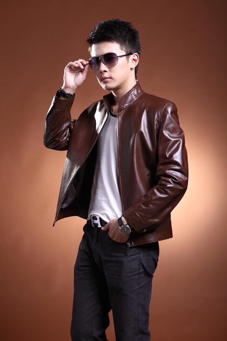 cheap men's leather jacket