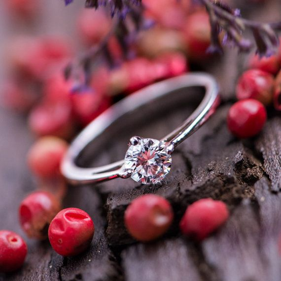 0.50 CT Brilliant Cut Diamond Engagement Ring in by ZEHAVAJEWELRY