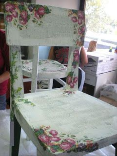 decoupage chair                                                                                                                                                                                 More