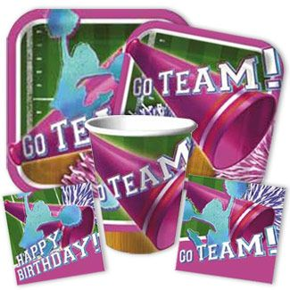 Cheerleading Party Supplies from www.DiscountPartySupplies.com