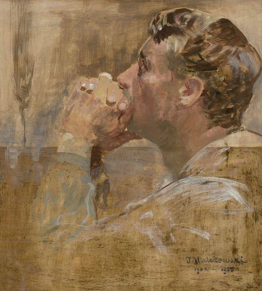 Modlący się mężczyzna - Jacek Malczewski