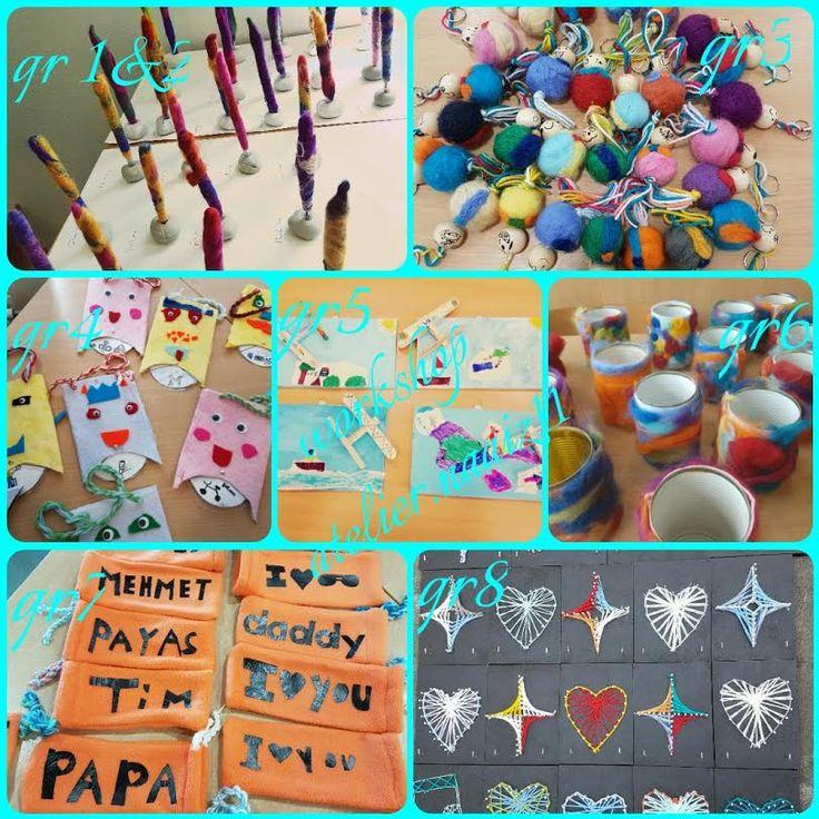 workshops gegeven door atelier.naaiz11 Gemaakt door de leerlingen van groep 1 tot en met groep 8 van de pastoor van arsschool.