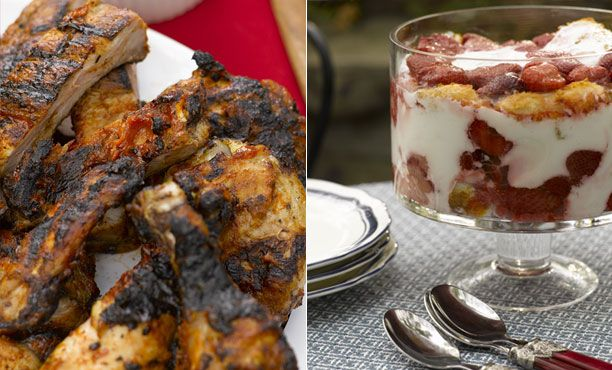 Fourth of July: Recipes Grilled Chicken and Ribs, Strawberry Angel-Food Trifle      Some suggestions form Epicurious for your 4th outdoor party.  It's all about keeping it fairly simple but tasty.