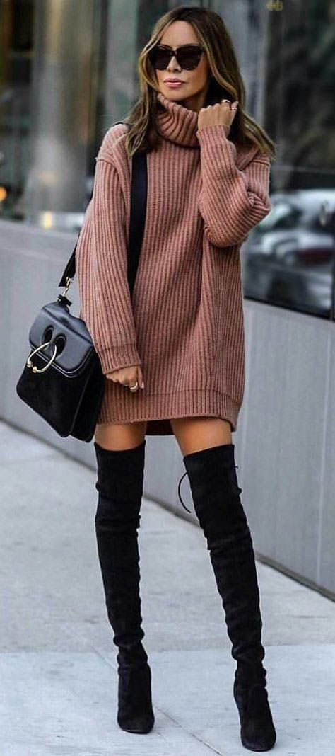 Thigh high boots / street style fashion / fashion week #fashionweek #fashion