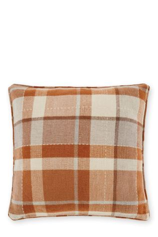 Buy Ginger Rustic Woven Check Cushion online today at Next: Rep. of Ireland