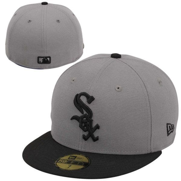 New Era Chicago White Sox Storm Fitted 59FIFTY Hat - Black/Gray