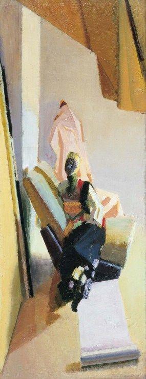 Janusz Kaczmarski, Kompozycja w pionie, 1996, olej na płycie, 84 x 33 cm  fot. Jacek Gładykowski - photo 4