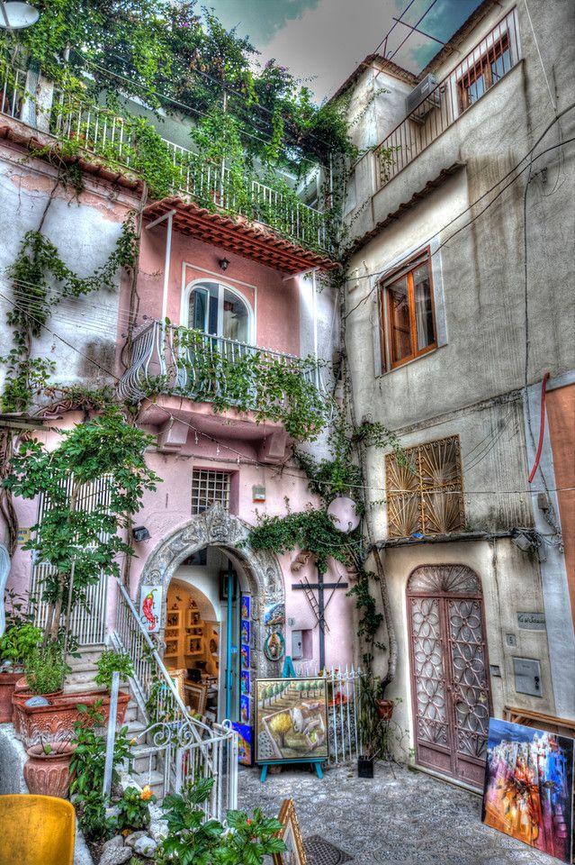 Shops in Positano, Italy